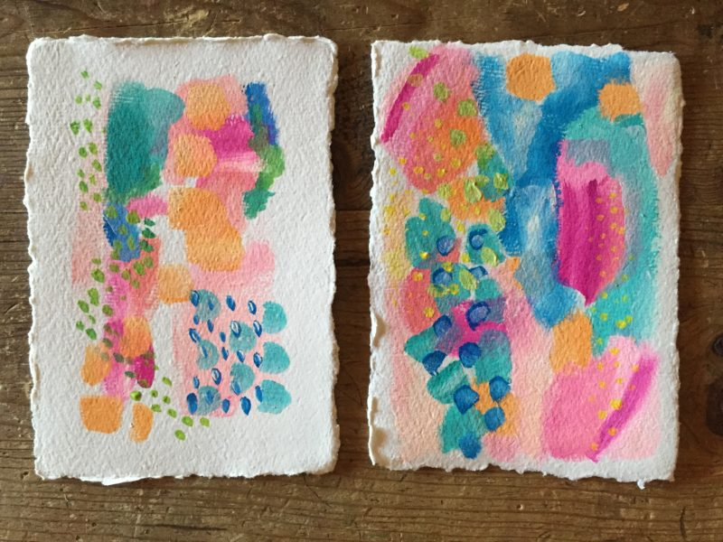 abstract florals for sale, handmade paper, nujabi paper