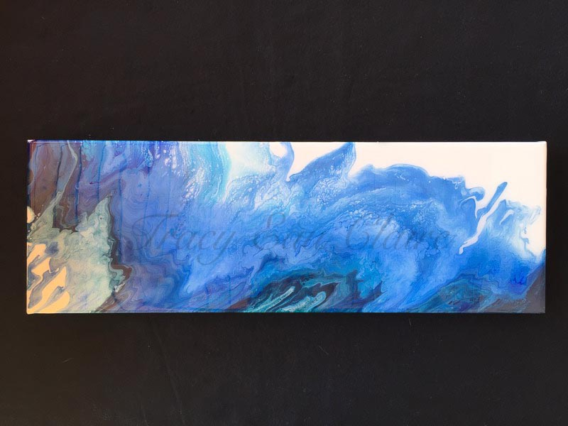 resin art, ocean scene, flow art for sale